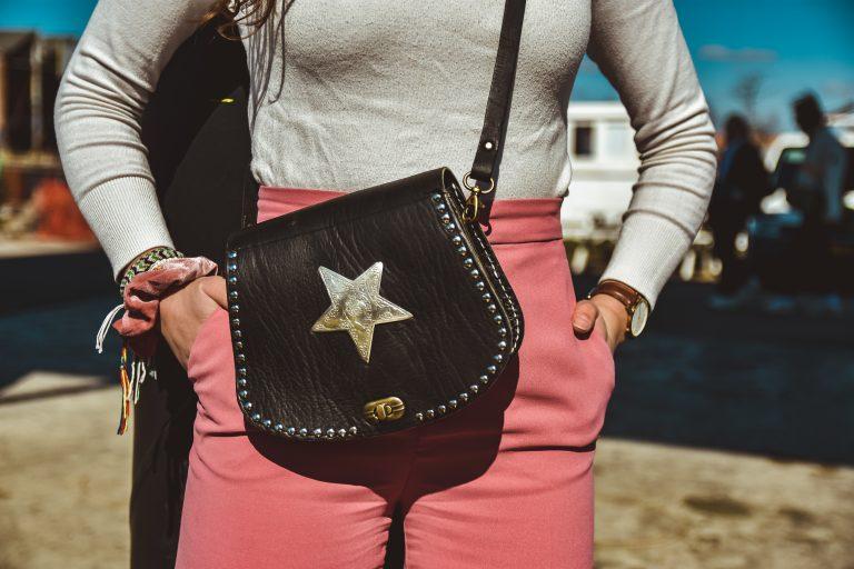 Mo black m - star bag
