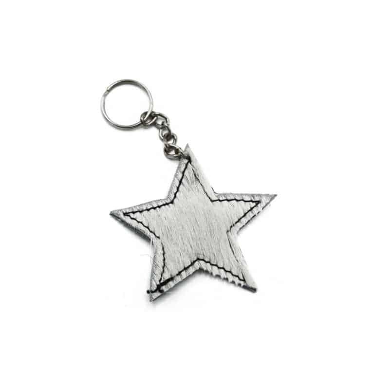 Cow star keychain