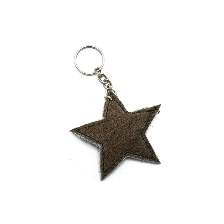Light brown star keychain