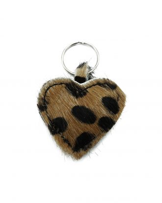 big dots brown cheetah keychain