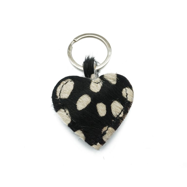 Black cheetah keychain