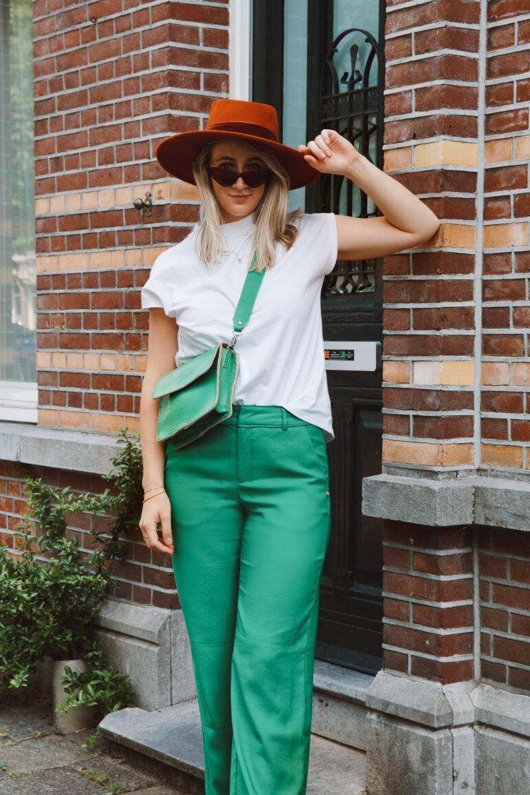 Green handbag